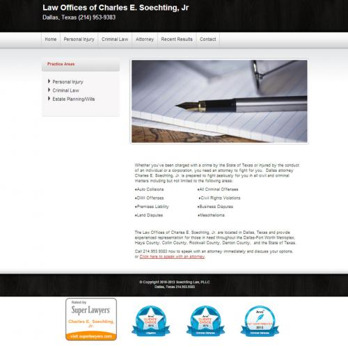 Wordpress website for Dallas Lawyer