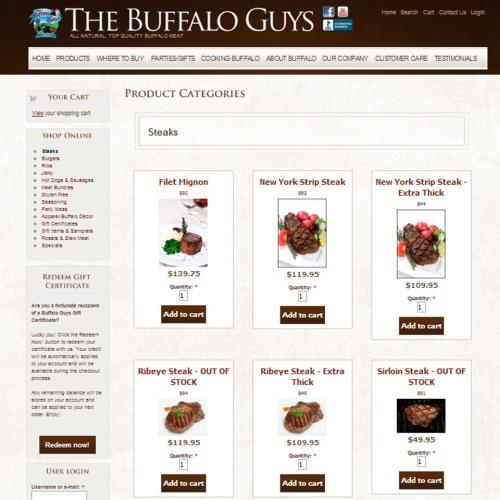 Drupal Ubercart Online Store: thebuffaloguys.com